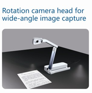 wide angle visual presenter