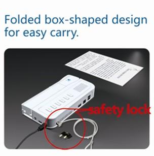 folded visual presenter