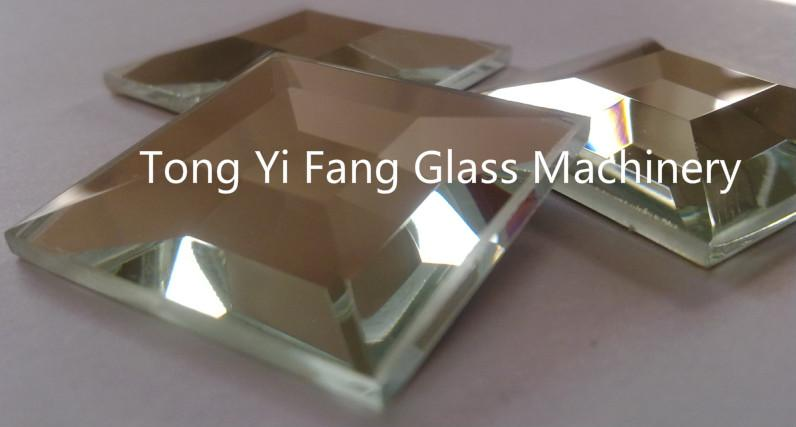 decoration glasses by glass edging machine
