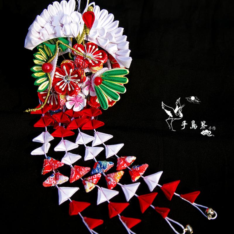 和服花纹素材仙鹤