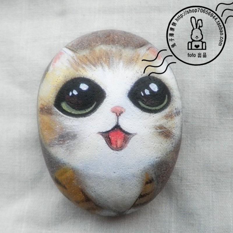 【图】可爱小企鹅 手绘石头画