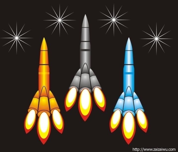 幼儿简笔画火箭 火箭升空简笔画