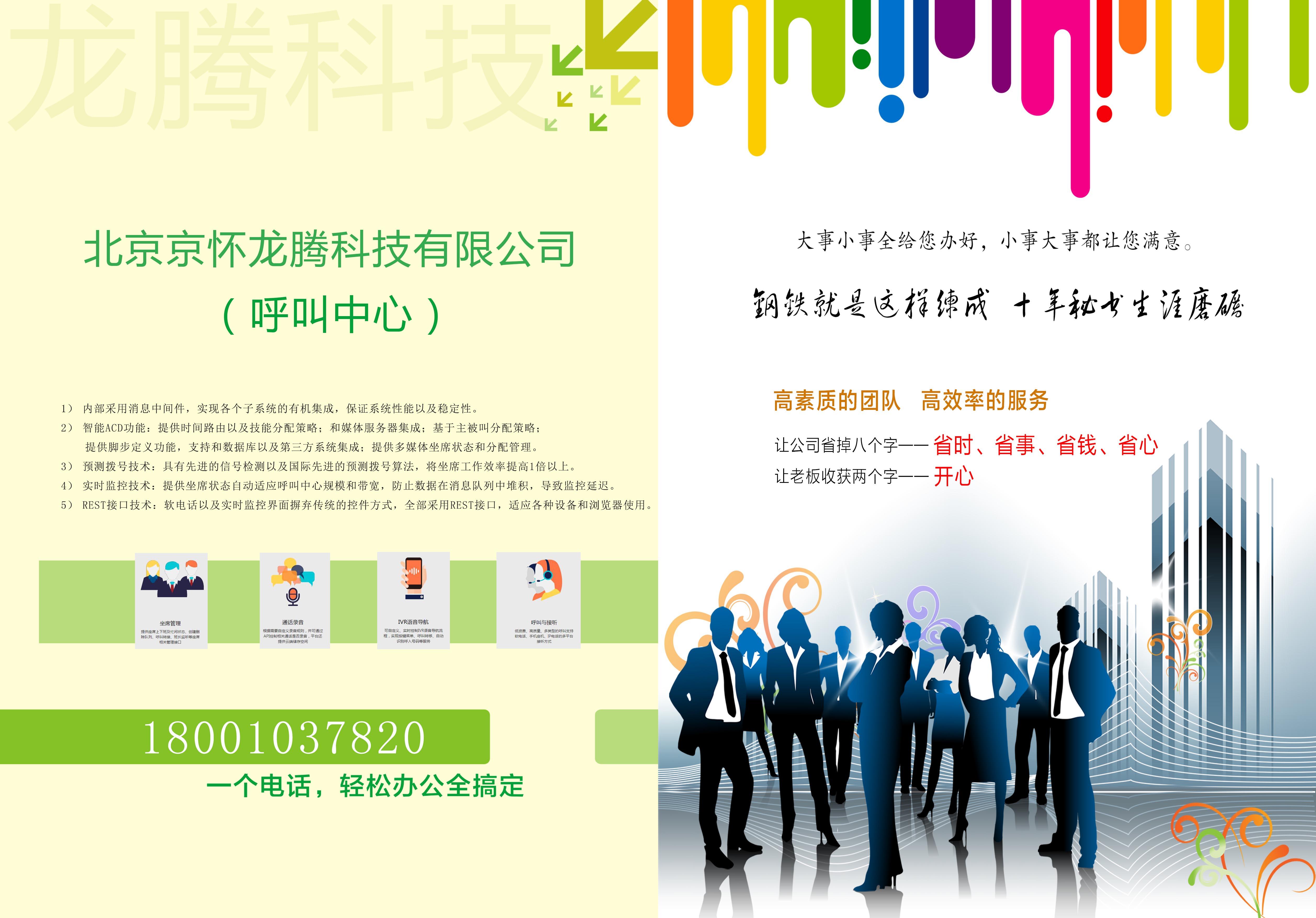 公司客服中心宣传海报