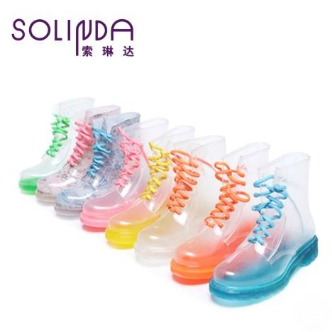 马丁雨鞋雨靴高帮水
