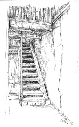手绘楼梯简笔画