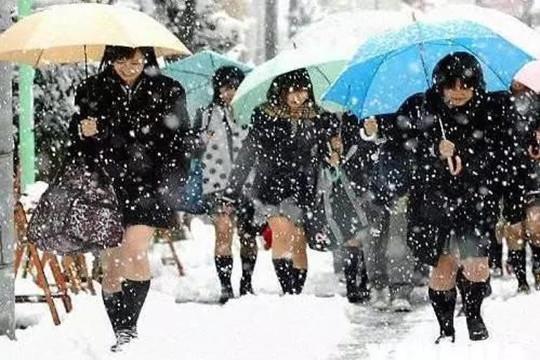 """近日我国北方多地大雪翻飞,冷风阵阵,而在你套上秋裤、裹成粽子仍抖成筛子的冬季,同纬度的日本小朋友可能正光着腿过冬。 这不是夸张。日本影视剧和动画片里的现代角色,小学生似乎清一色的裙装和短裤,日本的年轻姑娘也习惯冬天着裙装、露大腿,哪怕在雪地里也是如此。 日本人是如何做到的?穿这么少,真的不冷吗?  光腿的着装传统:裤子太贵 事实上,日本自古就有光腿的传统。 在古代,日本的裤裙""""袴(kù)""""(hakama)价格昂贵,只有武士会用作常服穿着,大多数农民、店家伙计等平民平常"""