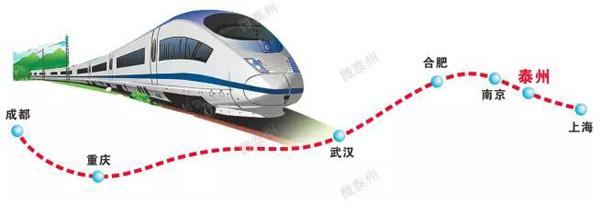 泰州到重庆高铁