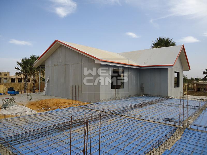 sandwich apartment cv1 Prefabricated Concrete Villa WELLCAMP, WELLCAMP prefab house, WELLCAMP container house manufacture