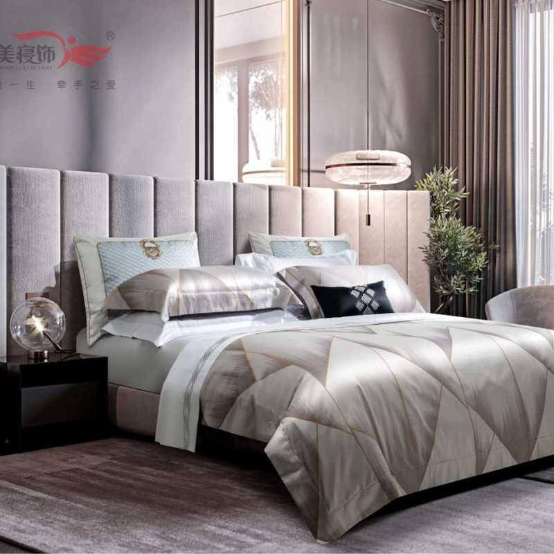 100支純棉色織床單四件套-卡麗斯托