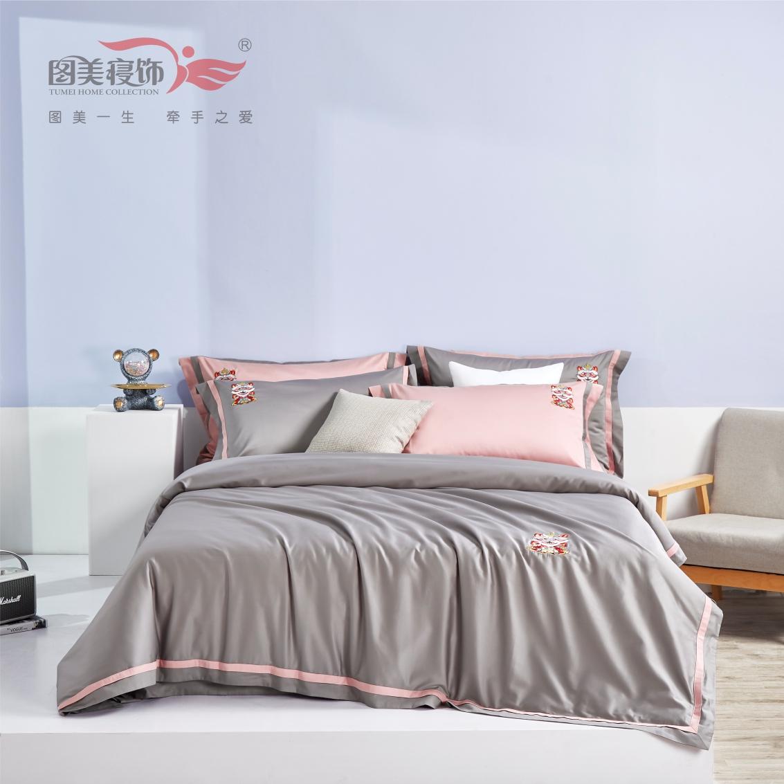 新疆阿克蘇長絨棉床單床笠床蓋四件套-西洋紫/水平藍/橄欖綠/檸檬黃/牡丹粉/暖灰