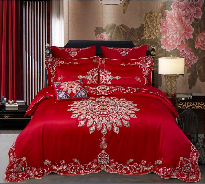 全棉提花床蓋八件套-十全十美