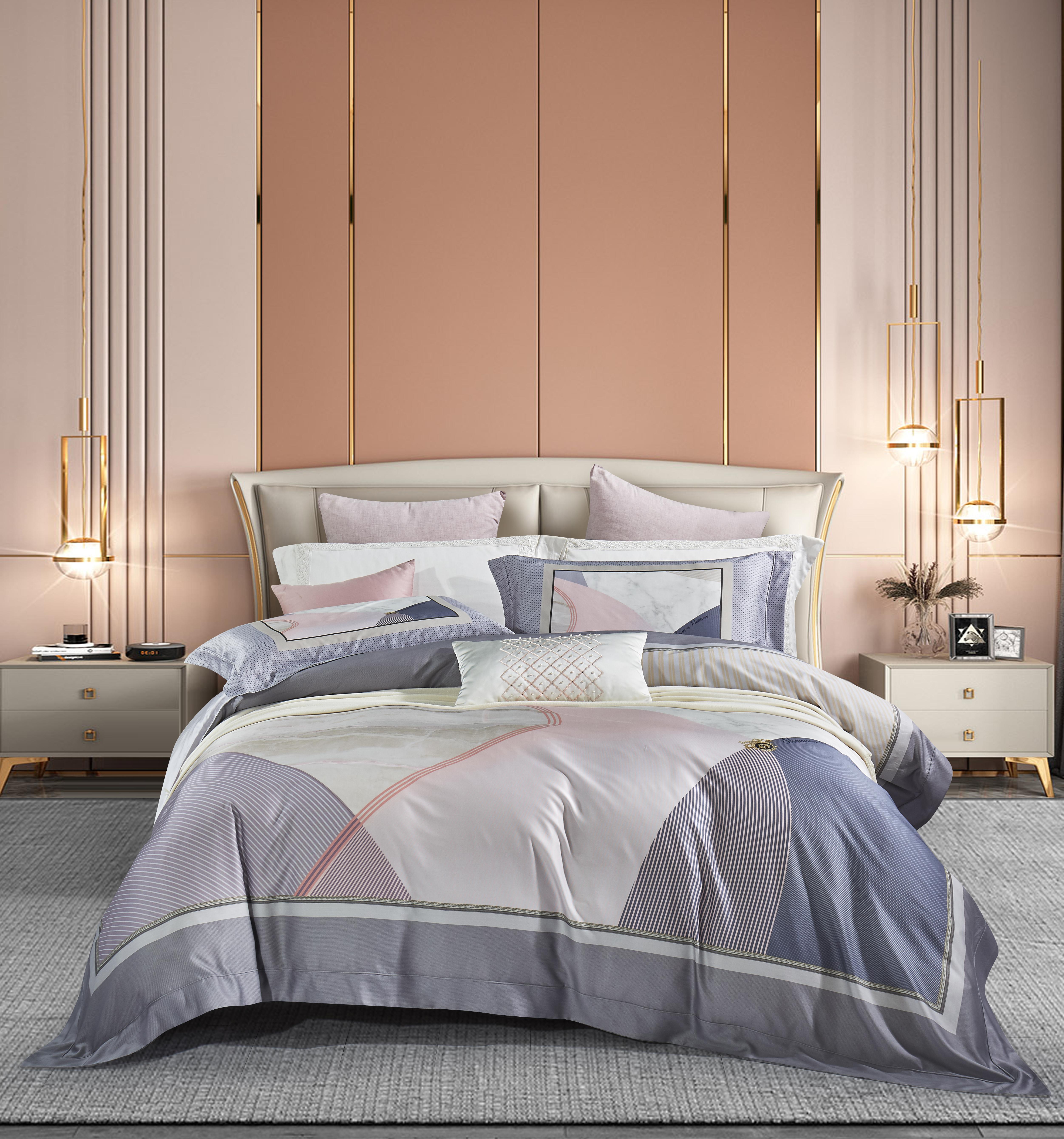 80奢華棉床蓋四件套-阿曼達