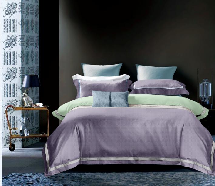 匹馬棉數碼錦絨床蓋四件套-沐澤(藍、紫、靛藍、荔枝紅)