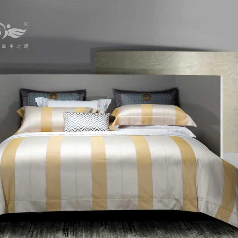 100支純棉色織床單四件套-卡西諾